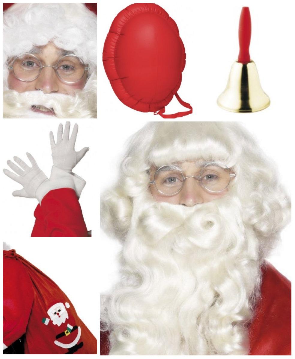 collage - Julemandskostume til voksne