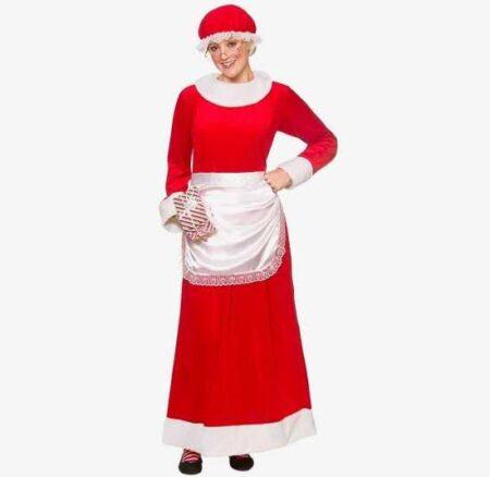 deluxe julemandens kone kostume jule kjoler 450x438 - Julemands kone kostume til voksne
