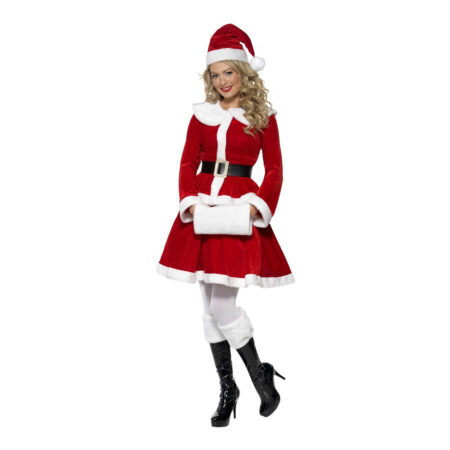 klassisk nisse kostume til kvinder julemandens kone kostume til voksne