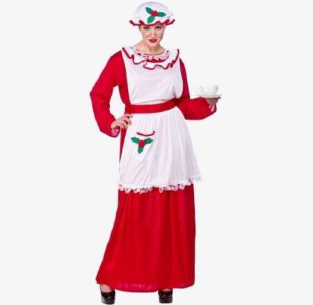 klassisk julemandens kone kostume jule kjoler 450x439 - Julemands kone kostume til voksne