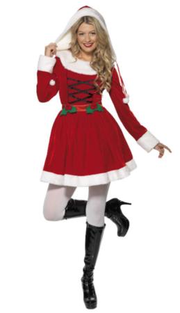 nissepige kostume til voksne sexet julefrokot kostume julekjole til kvinder julekjole til julefrokost langærmet julekostume til kvinder