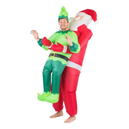 oppustelig alf og julemand kostume 450x450 - Alfe kostume til voksne