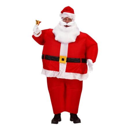 oppustelig julemand kostume til voksne