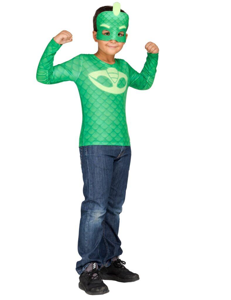 pyjamasheltene PJ masks geggo kostume grønt pyjamasheltekostume