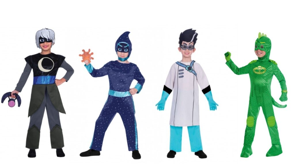 pyjamasheltene kostume pyjamas helt kostume månepige ninja nat romeo kostume