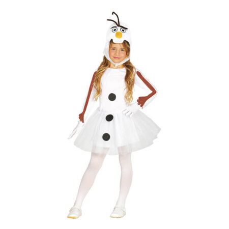 snemand børnekostume til piger 450x450 - Snemand kostume til børn