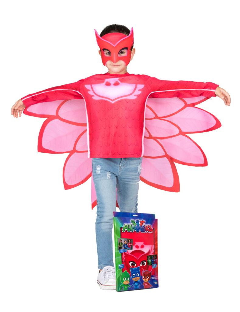 ugline pyjamasheltene kostume PJ Masks ukline ugle rød kostume fastelavnskostume PJ masks