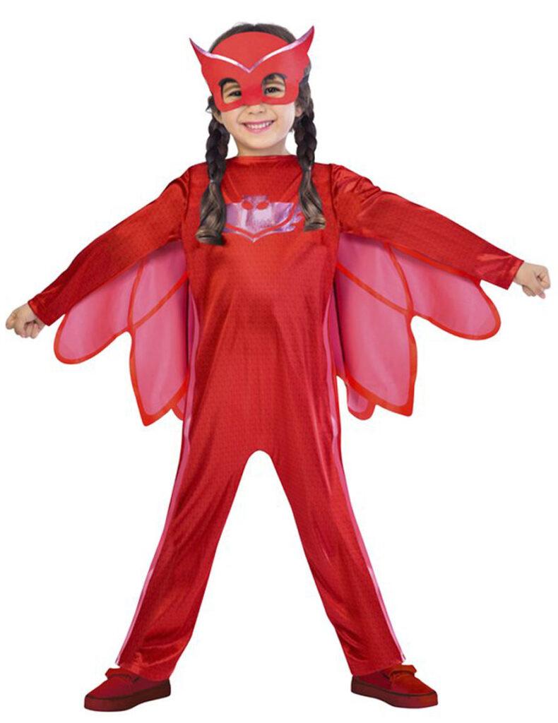 ugline pyjamasheltene kostume PJ Masks ukline ugle rød kostume fastelavnskostume PJ masks børnekostume