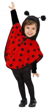 mariehøne poncho til børn mariehøne udklædning til toddlers