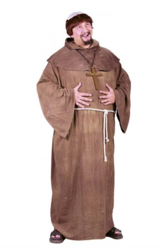 munk voksenkostume 659x1024 - Munke kostume til voksne