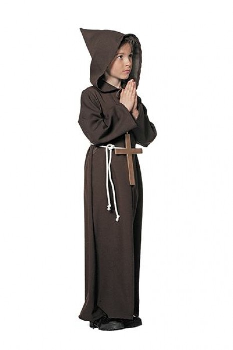 munke kostume til børn lille munk udklædning billigt fastlavnskostume religiøst kostume til børn munkekostume til børn børnekostume munk munk udklædning hellig munk børnekostume