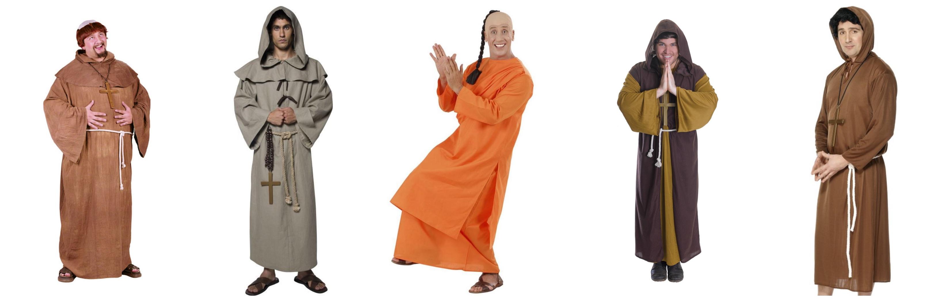 munke kostume til voksne 1 - Munke kostume til voksne