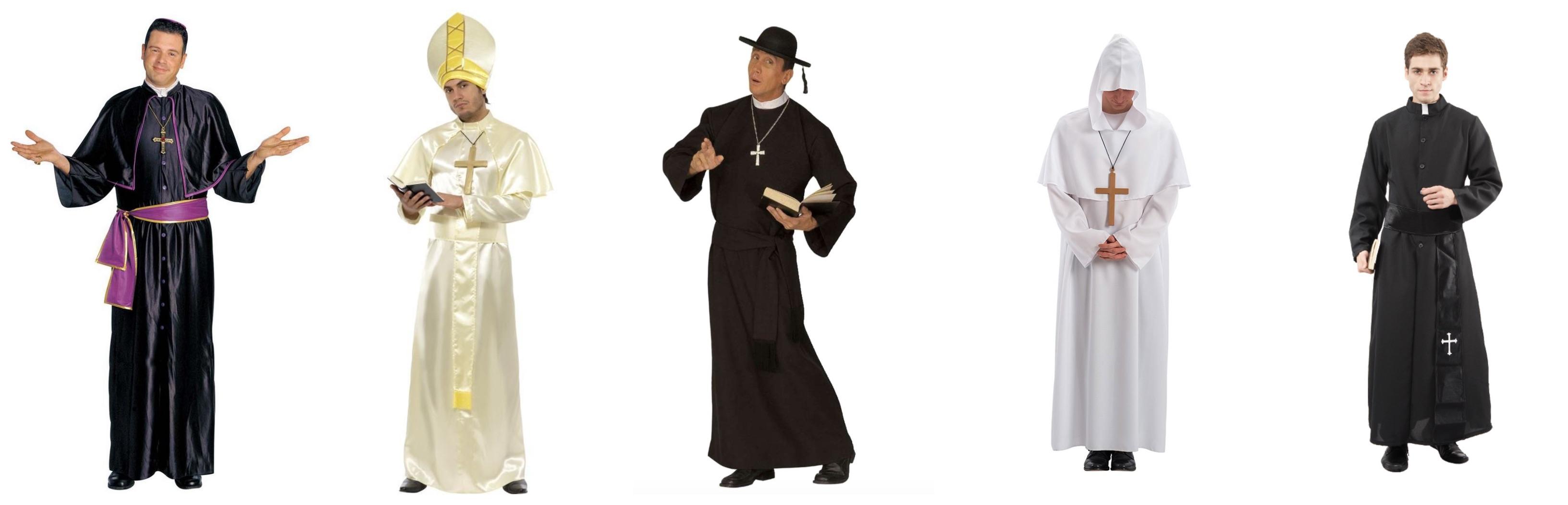 præst kostume til voksne - Præst kostume til voksne