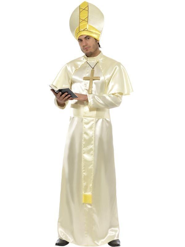 præstekostume præst kostume til voksne præst udklædning biskop kostume til voksne pavekostume