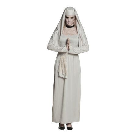 spøgelseskostume nonne halloween kostume til kvinder