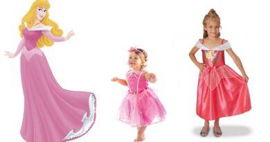 tornerose kostume til børn, tornerose børnekostume, tornerose udklædning til børn