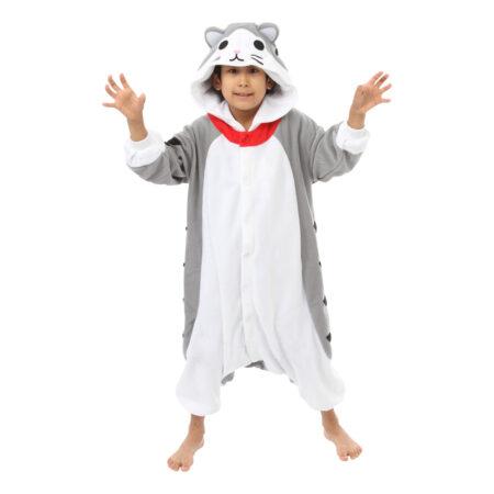 grå katte kostume til børn 450x450 - Katte kostume til børn