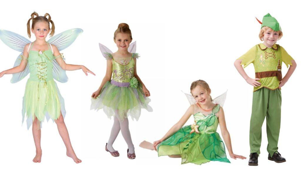 klokkeblomst kostume til børn peter pan kostume til børn