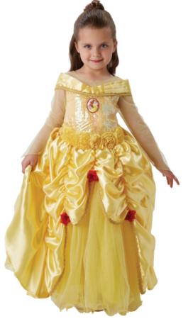 luksus fastelavnskostume til piger luksus belle kjole prinsessekjole