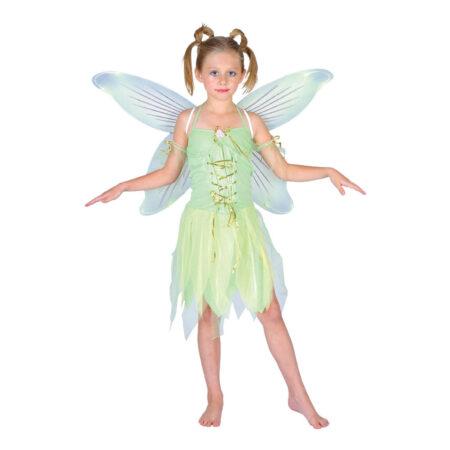 luksus klokkeblomst børnekostume tinkerbell udklædning