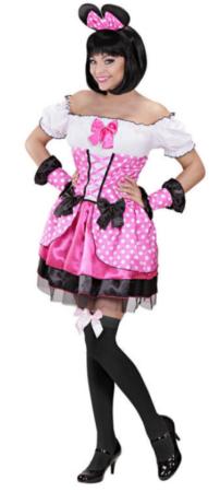 lyserødt kostume til voksne minnie mouse pink kostume til voksne