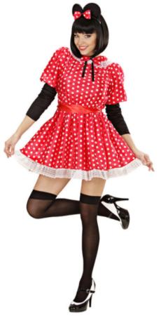 minnie mus kostume minnie mouse disney udklædning til voksne rødt kostume til voksne