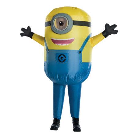 oppusteligt minions kostume til børn oppusteligt børnekostume minions luksus kostume
