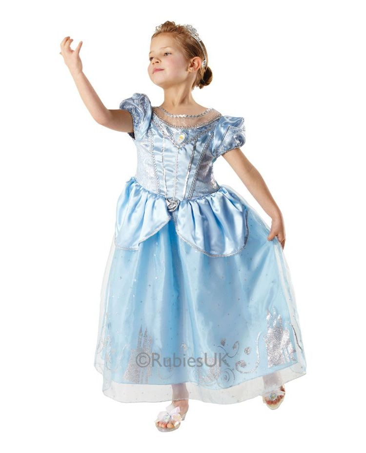 rubies askepot luksuskjole medium 116 cm - Askepot kostume til børn