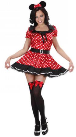 sexet disney kostume frækt kostume til kvinder minnie mouse udklædning til piger