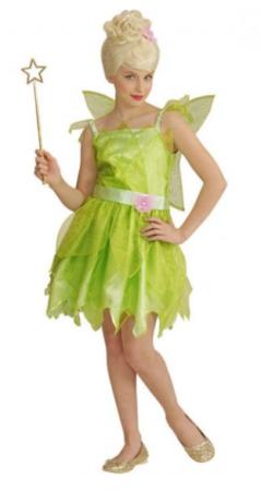 tinkerbell kostume til piger grøn klokkeblomst kjole til piger klokkeblomst udklædning