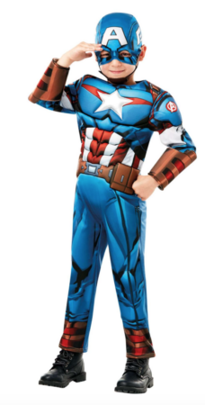 Captain america kostume 228x450 - Captain America kostume til børn
