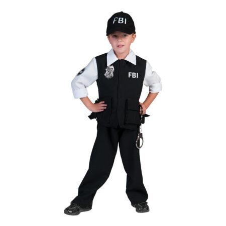 FBI agent børnekostume 450x450 - Politimand kostume til børn