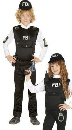 FBI kostume politi uniform kostume FBI udklædning