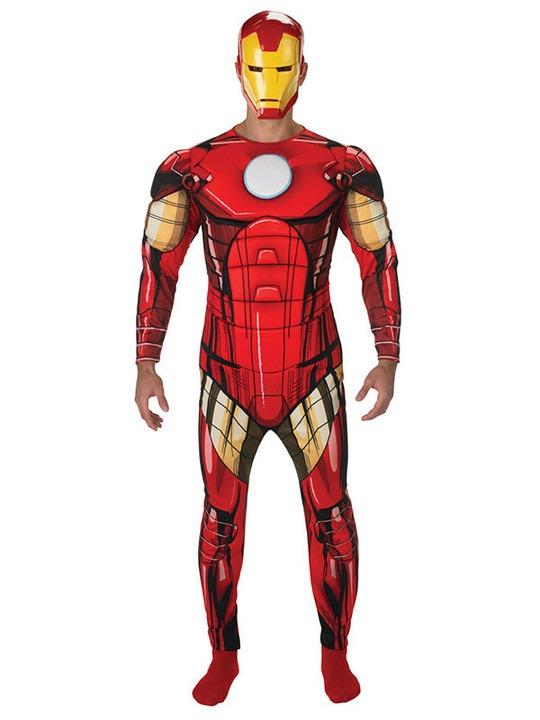 avengers kostume til voksne iron man kostume til voksne avengers iron man udklædning voksenkostume