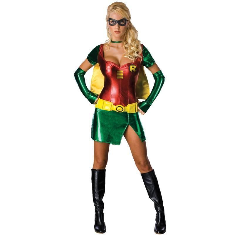 batman kostume til voksne robin kvinde karneval kostume