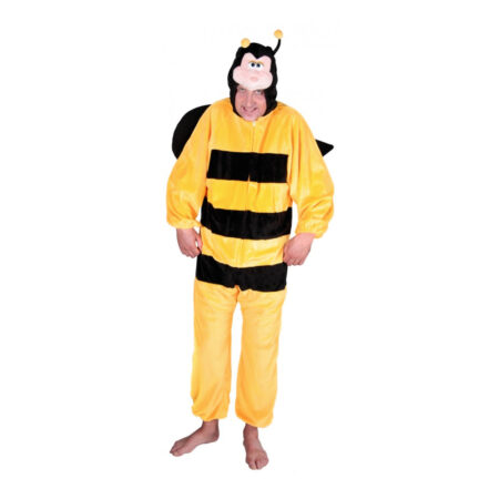 bi kostume one piece sort og gul kostume til voksne