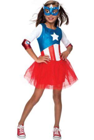 captain america børnekostume til piger captain america kostume til piger