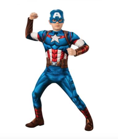 captain america fastelavnskostume til børn 381x450 - Captain America kostume til børn