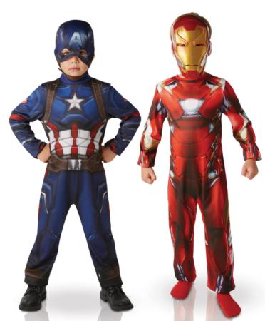 captain america kostume til børn dobbelt kostume iron man kostume til børn