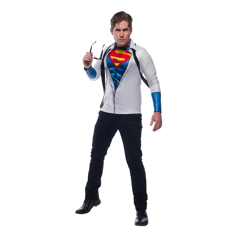 clark kent superman kostume til voksne - Superman kostume til voksne