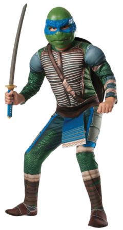 deluxe ninja turtles børnekostume mud muskler