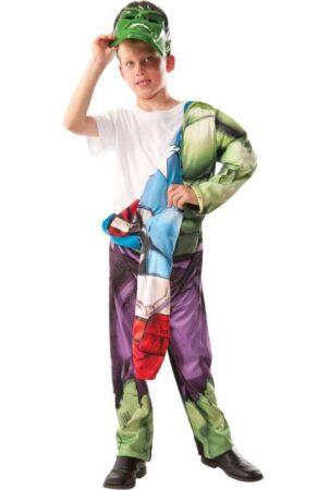 dobbelt kostume hulk og captain amerika kostume til børn avengers dobbelt kostume avengers vendbar kostume