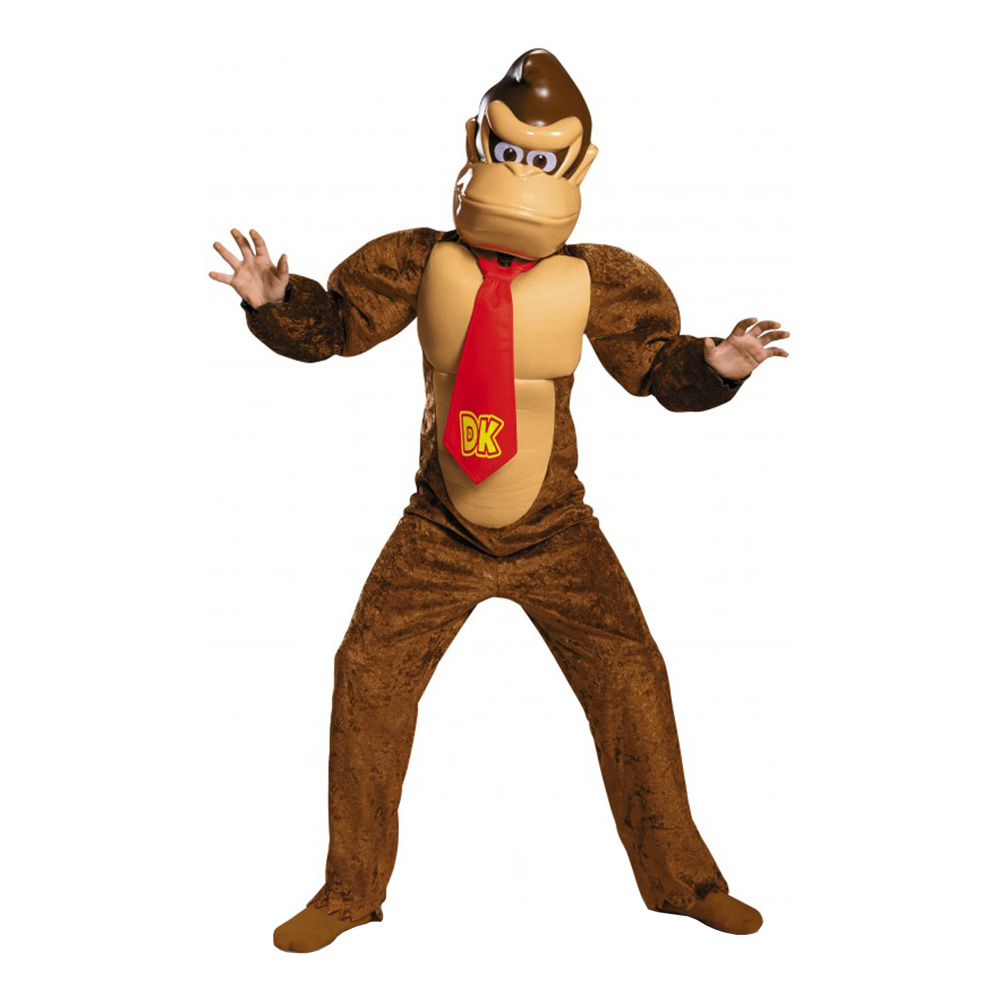 donkey kong børnekostume - abe kostume til børn og baby