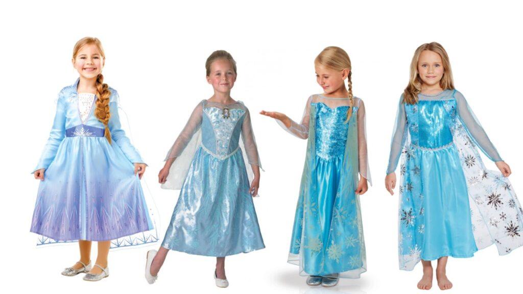 elsa kostume til piger elsa frozen kjole dronning elsa arendal kostume disney kostume til børn