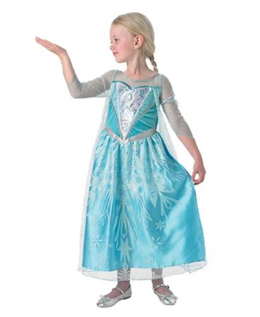 elsa snefnug kostume elsa kjole til piger elsa kostume til piger lyseblå sidney kjole