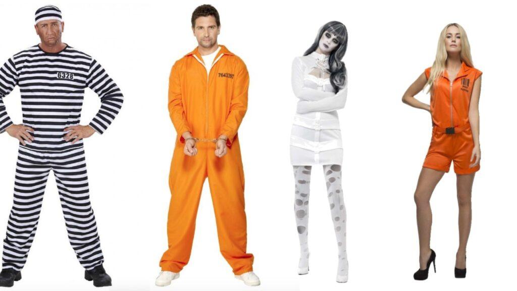 fange kostume til voksne orange fangedrage indsat kostume til voksne sort hvid stribet fangedragt orange is the new black kostume