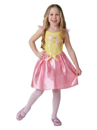 flutter shy kostume til piger fastelavnskostume my little pony børnekostume