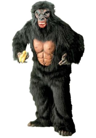 gorilla luksus kostume gorilla udklædning abe kostume til voksne deluxe abekostume