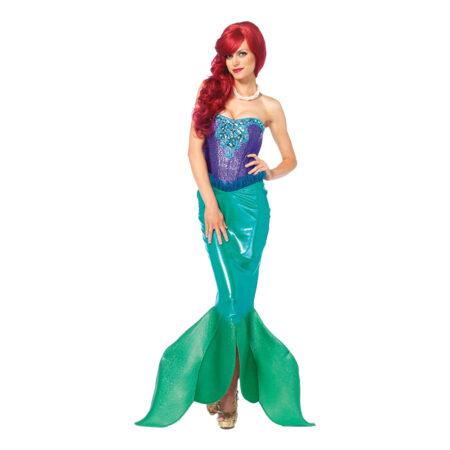 havfrue deluxe luksus kostume til voksne