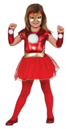 iron man kostume til piger superheltekjole fastelavnskostume til piger rødt kostume til børn ironman kjole iron man udklædning til piger